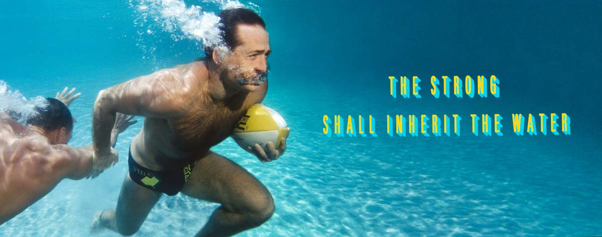 advertising photographer Craig Holmes famous photograph of David Campese playing football underwater, The Strong Shall Inherit The Water Campaigne