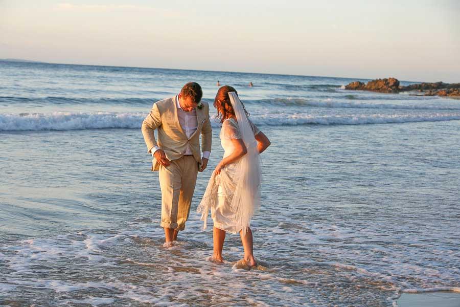 wedding photographer packages noosa bride and groom enjoy noosa beach